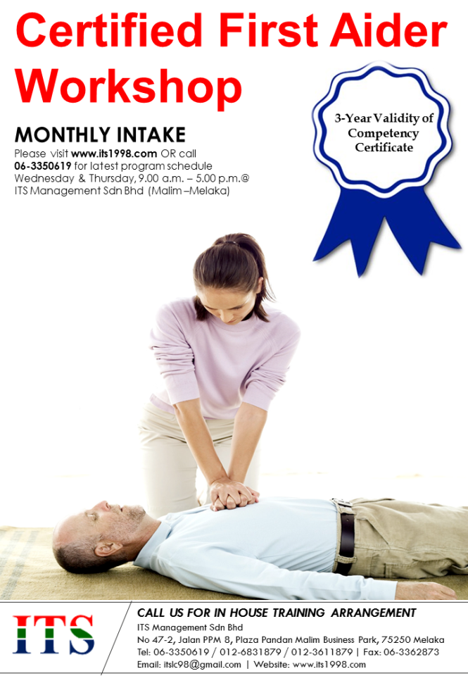 Leaflet - Certified First Aider Workshop (Monthly Intake)